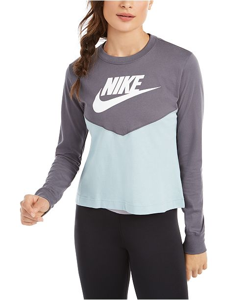 Nike Women's Sportswear Cotton Clorblocked Top