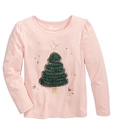 Little Girls Holiday Tree T-Shirt, Created For Macy's