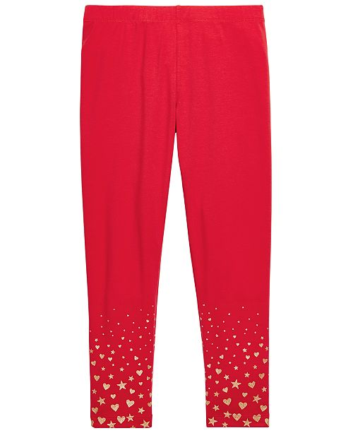 Epic Threads Toddler Girls Glitter-Print Leggings, Created For Macy's