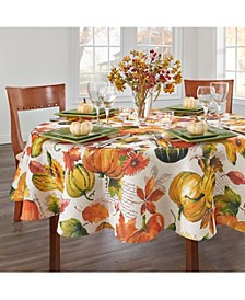 "Grateful Season 70"" Round Tablecloth"