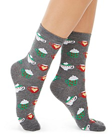 Women's Hot Cocoa Crew Socks, Created for Macy's