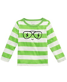 Baby Boys Striped Face-Print Cotton T-Shirt, Created For Macy's