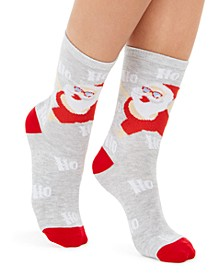Women's Beach Santa Crew Socks, Created for Macy's