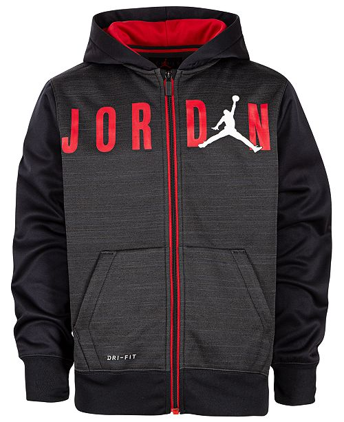 Jordan Little Boys Dri-FIT Streak Zip-Up Hoodie