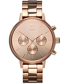 Women's Nova Vela Rose Gold-Tone Stainless Steel Bracelet Watch 38mm