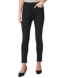 Snakeskin Print Skinny Jeans