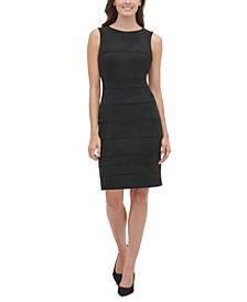 Faux-Suede Scuba Sheath Dress