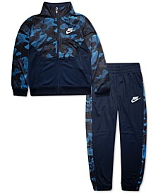 Toddler Boys 2-Pc. Camo-Print Jacket & Jogger Pants Set