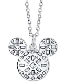 """Disney Mickey Mouse Crystal Pendant Necklace, 16"""" + 2"""" extender"""