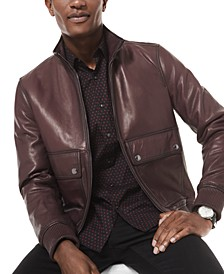 Men's High-Low Mock Bomber Jacket