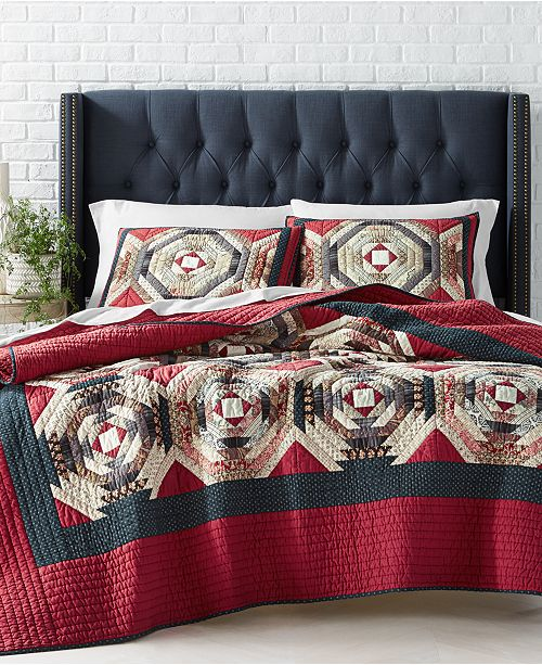 Martha Stewart Collection Artisan Patchwork Full/Queen Quilt, Created For Macy's
