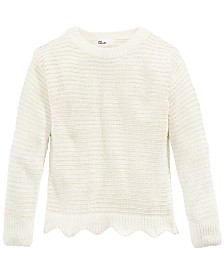 Epic Threads Big Girls Scalloped Hem Sweater, Created For Macy's