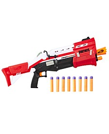 CLOSEOUT! Fortnite TS Blaster -- Pump Action Dart Blaster, 8 Official Nerf Mega Fortnite Darts, Dart Storage Stock -- For Youth, Teens, Adults