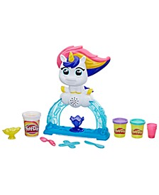 Tootie the Unicorn Ice Cream Set with 3 Non-Toxic Colors Featuring Play-Doh Color Swirl Compound