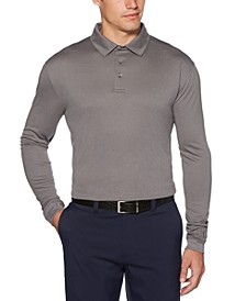 Men's Jacquard Long-Sleeve Polo