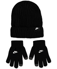 Big Boys 2-Pc. Futura Ribbed Beanie & Touchscreen Gloves Set
