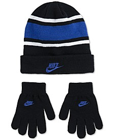 Big Boys 2-Pc. Futura Stripe Beanie & Gloves Set