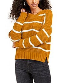Juniors' Striped Sweater