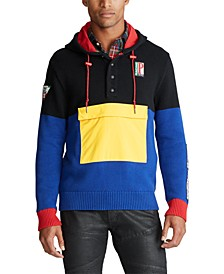 폴로 랄프로렌 칼라블록 하이브리드 스웨터 Polo Ralph Lauren Mens Color-Blocked Hybrid Sweater,Black/royal