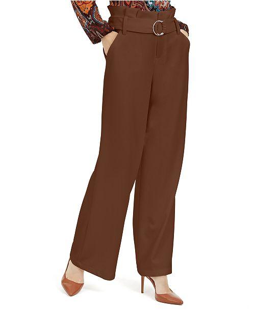INC International Concepts I.N.C. Paperbag-Waist Wide-Leg Pants, Created For Macy's