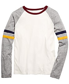 Big Boys Brett Colorblocked Stripe T-Shirt, Created For Macy's