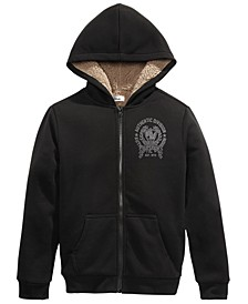Big Boys Fleece-Lined Full-Zip Hoodie, Created For Macy's