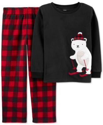 Little & Big Boys 2-Pc. Fleece Polar Bear Pajamas Set