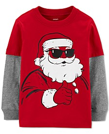 Toddler Boys Cotton Santa Claus Thermal Top