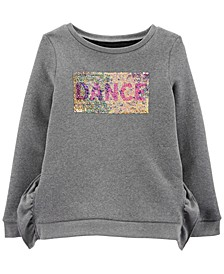 Little & Big Girls Flip-Sequin Dance Fleece Sweatshirt