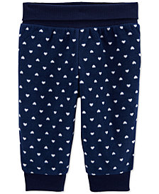 Carter's Baby Girls Heart Fleece Pants