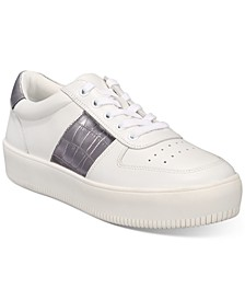 INC Women's Libbee Lace-Up Croc Sneakers, Created For Macy's