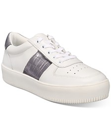 I.N.C. Women's Libbee Lace-Up Croc Sneakers, Created For Macy's