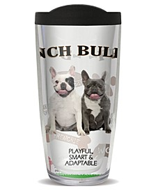 French Bulldog Double Wall Insulated Tumbler, 16 oz