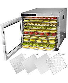 Secco Pro Food Dehydrator with 10 Drying Racks