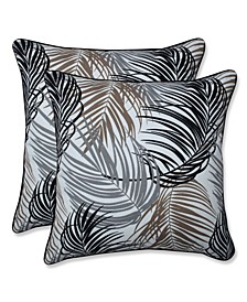 "Palm Fronds 16"" x 16"" Outdoor Decorative Pillow 2-Pack"