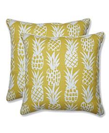 "Pineapple 18"" x 18"" Outdoor Decorative Pillow 2-Pack"