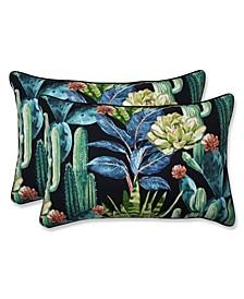 Hatteras Ebony Over-Sized Rectangular Throw Pillow, Set of 2