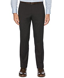 Portfolio Men's Slim-Fit Stretch Tonal Plaid Dress Pants