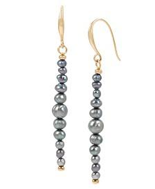 Robert Lee Morris Soho Pearl Linear Earrings
