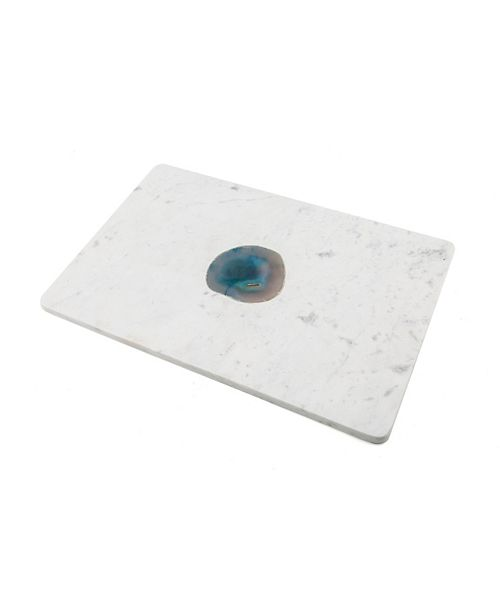 Thirstystone CLOSEOUT Marble Serving Board with Blue Agate