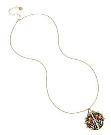 Betsey Johnson Ornate Ladybug Pendant Long Necklace