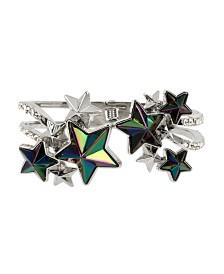 Betsey Johnson Star Cluster Hinged Bangle Bracelet