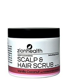Hair Scrub, Vanilla Coconut Scent, 4 oz