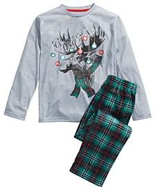 Big Boys 2-Pc. Moose Lights Pajama Set