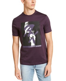A|X Armani Exchange Men's Fingers Crossed AX Logo Graphic T-Shirt