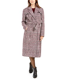 Signature Maxi Plaid Belted Coat