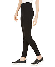 Style & Co Lace-Up Leggings, Created for Macy's