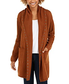 Studded Cardigan Sweater, Created For Macy's