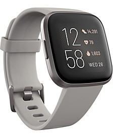 Versa 2 Mist Gray Elastomer Strap Touchscreen Smart Watch 39mm