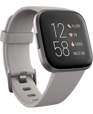 Versa 2 Mist Gray Elastomer Strap Touchscreen Smart Watch 39mm